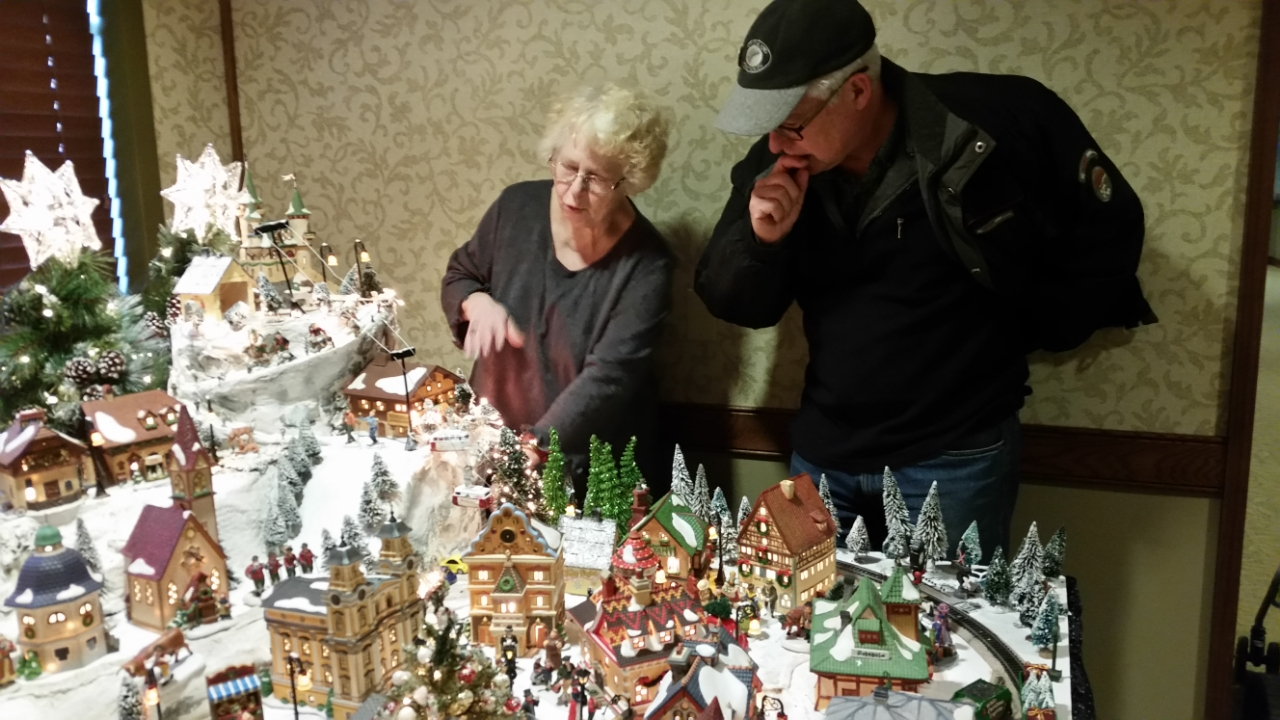 Bavarian Train Display Monica and Rod