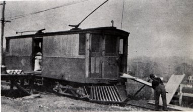 Work Cars used for the Trolley Lines